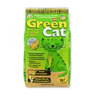 WC Green Cat 12 л /3.8 кг - царевична котешка тоалетна