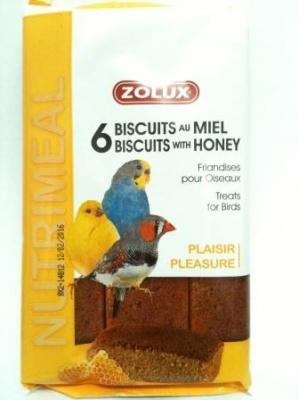 Бисквити за птици с мед 6 бр 75гр