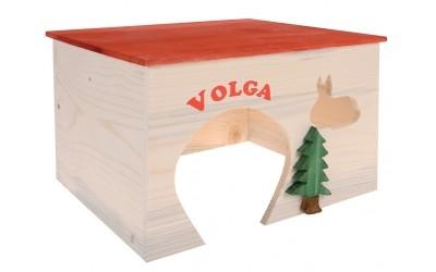 Дървена къща за зайчета