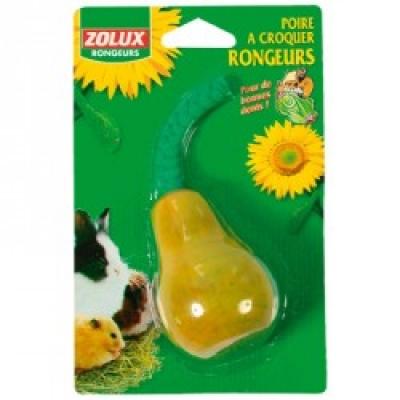 Аксесоари - Дървена играчка круша за гризачи с въже