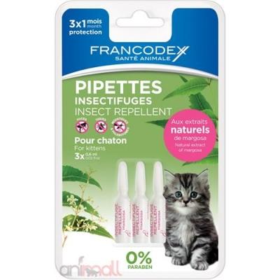 Репелентни пипети за малки котенца 3 бр Francodex