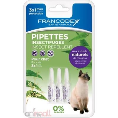 Репелентни пипети за котки 3 бр Francodex