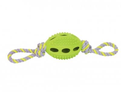 """Играчка """"Football"""" със зелено въже 10 см"""
