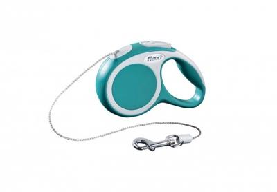 Авт. повод Flexi VARIO XS turquoise cord 3м
