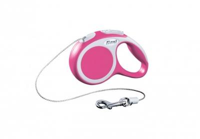 Авт. повод Flexi VARIO XS pink cord 3м