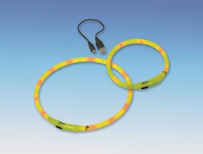 Нашийник светещ - жълто XL 10мм/70 см