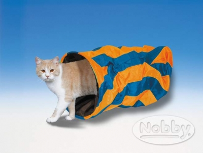 Тунел за котки оранжев 50/25 см