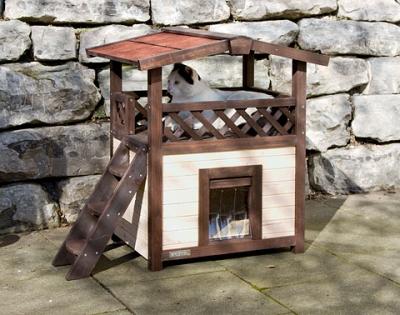 Къща дървена за котки 4 Seasons 88/57/77 см