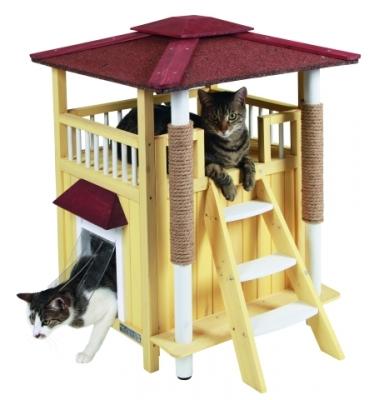 Къща дървена за котки Toskana 58/58/76 см