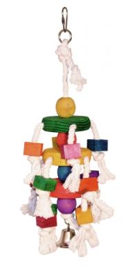 Игр. за п-ли 35 см цветни трупчета на пам.въженца