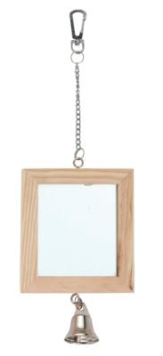 Огледало-дървено двустранно със звънче Kerbl