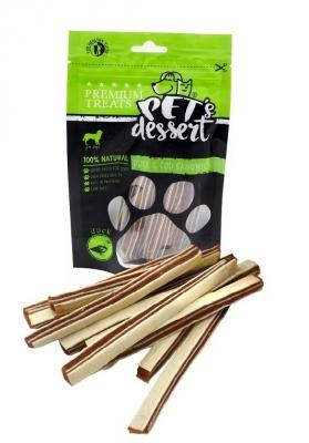 PET'S DESSERT Лентички с  патешко месо и треска 80 гр