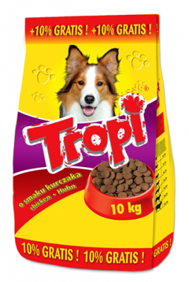 Tropi - говеждо 10 кг с гратис 1кг