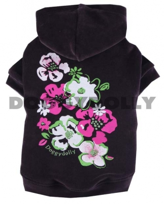 Дрешка с качулка Flower dark Purple