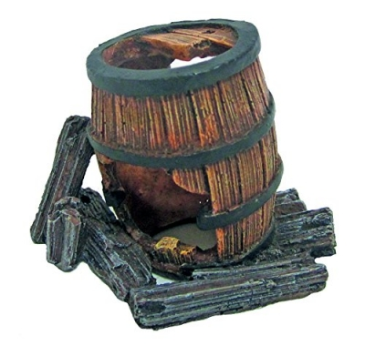 "Декорация ""Wood Barrel with hole"" L 8.7/6/6.5 см"