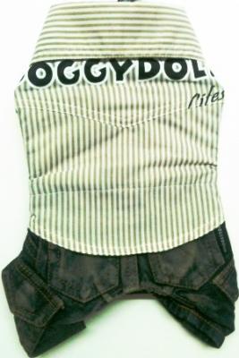 Комплект риза с дънков панталон