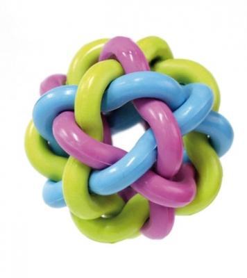 Цветна топка плетена 7.5 см