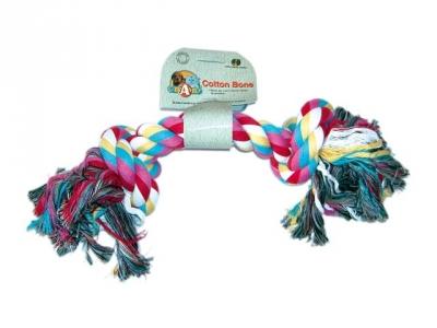 Пам. въже цветно с два възела 45 см