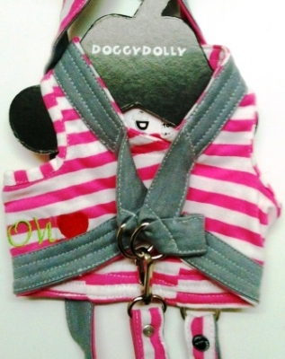 Нагръдник+повод Body harness pink