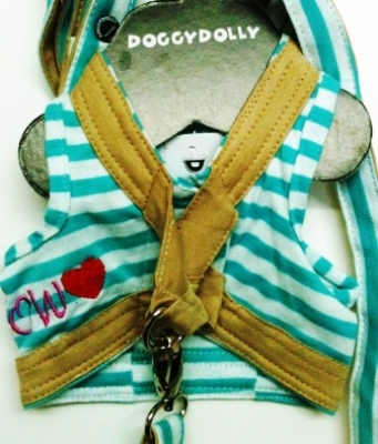 Нагръдник+повод Body harness green