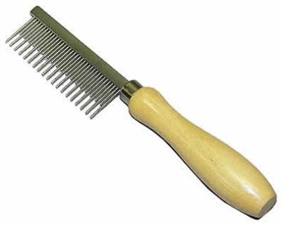 Гребен къси дълги зъби с дървена дръжка