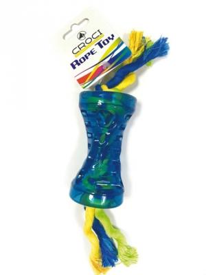 Синя ролка на пам.цветно въже 28 см
