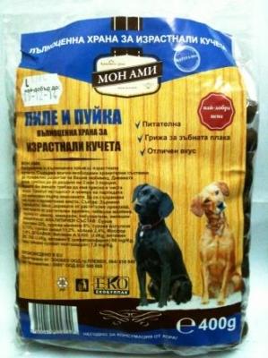 Мон Ами 400 гр куче - пиле и пуйка  / 12бр в стек/