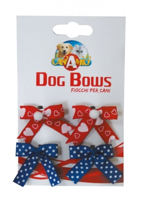 Панделки Dog Bows 4 бр 3.5 см C6020645