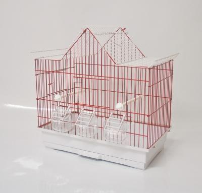 Клетка за птици 46/28/50 см - трискатен покрив