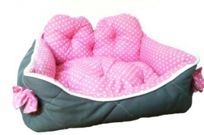 Легло плат 40/30 Vintage сиво с розово
