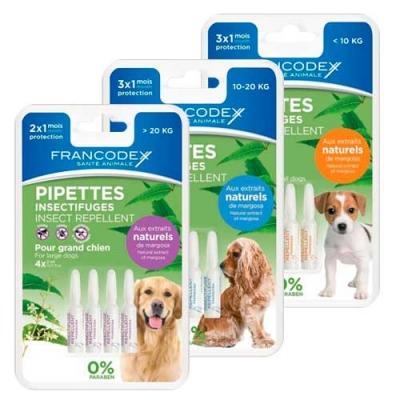 Репелентни пипети за кучета 3 бр Francodex