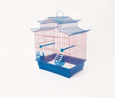 Клетка за птици 36/28/42 см - троен покрив