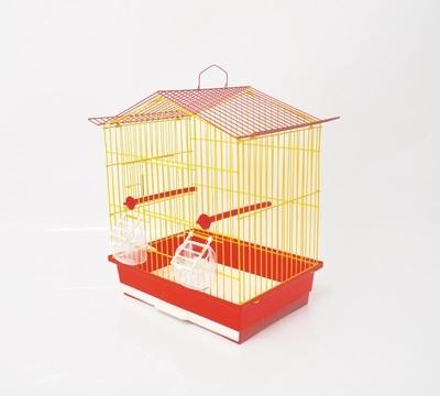 Клетка за птици 36/28/42 см триъг. покрив