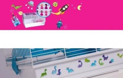 Декорация за клетка - стикери и цветни моливи