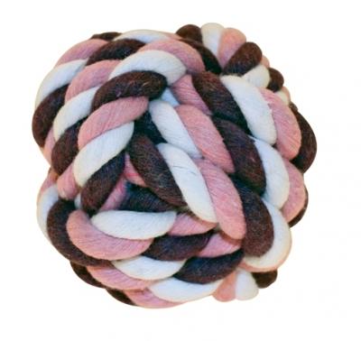 Топка въжена (розова) 7.5 см