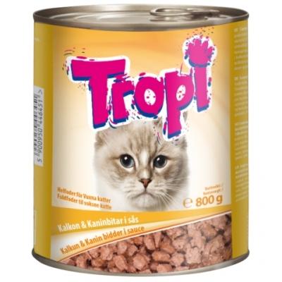 Tropi Cat 800 гр пуйка/заек