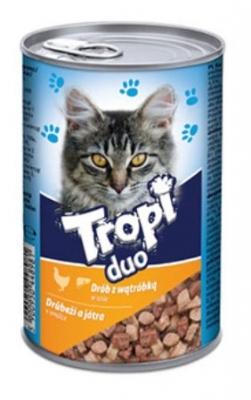 Tropi Duo Cat 415 гр пиле/дроб