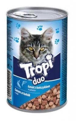 Tropi Duo Cat 415 гр сьомга/риба тон