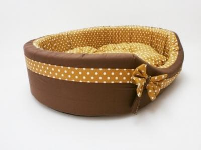 Легло плат - Vintage с кафява панделка