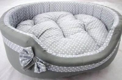 Легло плат Vintage сиво на точки
