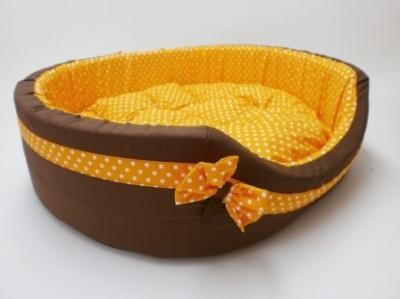 Легло плат - Vintage с оранжева панделка