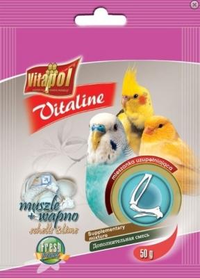 Vitaline Витамини за птици с мидички 10гр